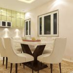 Dining set with italian marble top
